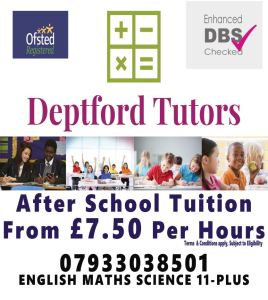 After School Tuition  @ Deptford Lounge | England | United Kingdom
