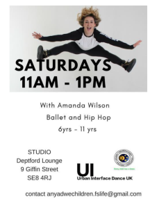 Ballet and Hip-Hop classes  @ Deptford Lounge